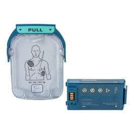 Philips Heartstart HS1 batterij en elektrode set