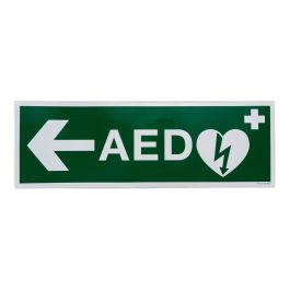 Sticker AED pijl links